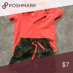 a3cf7060120 Carter s coral boys polo and matching shorts Adorable polo and pants set  from Carters. My