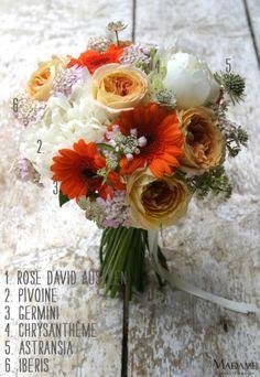 Bouquet de mariée {orange champêtre}