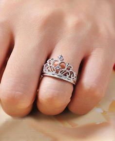 Crown Engagement Ring Wedding Ring