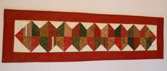 Quilted Table Runner with Pine Cones Winter by ForgetMeNotQuilteds