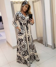 Summer Fashion Outfits, Cool Outfits, Fashion Dresses, Prom Dresses, Summer Dresses, Formal Dresses, Striped Maxi Dresses, Maxi Dress With Sleeves, Frocks