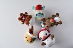 Free crochet amigurumi patterns, christmas collection