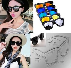 616908a620132 Women Men Vintage Retro Glasses Unisex Fashion Aviator Mirror Lens  Sunglasses Description Brand New.Designed For  Men WomenFashion design