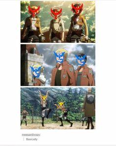 So true! Pokèmon Go and Aot  crossover.