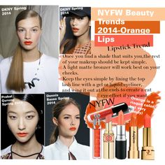NYFW Beauty Trends 2014-Orange Lips