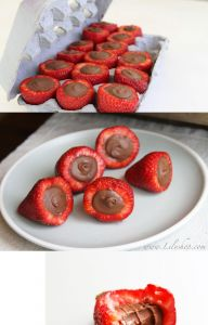 Not So Classic Chocolate Filled Strawberries | See more about chocolate filled strawberries, filled strawberries and strawberries.