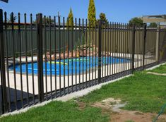 Vertical tube top is flat or to use rail AS top.Horizontal rail is punched holes which can insert vertical rail. Steel Fence Posts, Palisade Fence, Fencing For Sale, Hole Punch, Galvanized Steel, Modern Design, Tube, Deck, Outdoor Decor