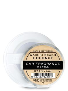 Shop Waikiki Beach Coconut Car Fragrance Refill at Bath And Body Works! Fill your home with the most irresistible, beautiful fragrance today. Bath N Body Works, Bath And Body, Champagne Toast, Car Freshener, Waikiki Beach, Home Fragrances, It Works, Berries, Coconut