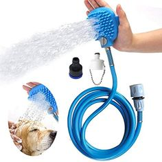 Petpro Dog Bathing Sprayer with Shower Bath Scrub Tool, Brush for Pet, Cat, Horse, for Massage, Indoor and Outdoor, Grooming, Shower * Want to know more, click on the image. (This is an affiliate link) #dogshowerbathaccessories