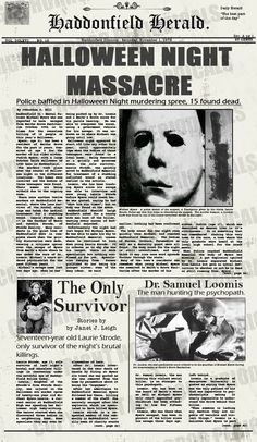 "Halloween... This one girl in my math class is afraid of Michael Myers and you can't even say his name without her freaking.... Hehe ^_^ I'm there like, ""best movie ever"""