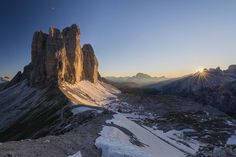Tre Cime Sunset Photo by Razvan Iliescu � National Geographic Your Shot. Dolomites National Park in Italy.