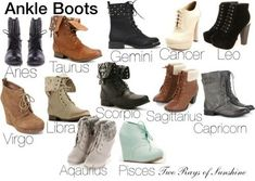 Ankle Boots - Zodiac Edition .
