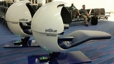 JetBlue Installs Napping Pods For Weary Travelers At JFK Airport   You know the feeling: your head is full of stuffing your feet are dragging and you just need to find somewhere to rest your tired bones after a long flight and before you get on another plane. If you dont have access to an airlines lounge there are limited options for napping at most airports: snoozing upright in a chair or perhaps tucked away in a corner on the ground. JetBlue is offering another choice with new napping pods…