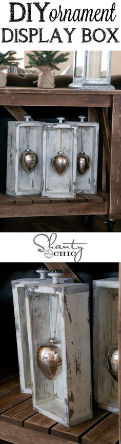 Cute way to display your ornaments! Use an old set of drawers or build your own! Easy how-to!