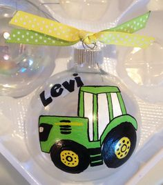 Personalized hand painted ornament by AddiBdesigns on Etsy, $15.00