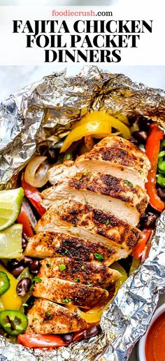 Foil Packet Dinners, Foil Pack Meals, Foil Dinners, Foil Packet Recipes, Chicken Foil Packets, Hobo Packets, Grilled Foil Packets, Summer Grilling Recipes, Recipes For The Grill