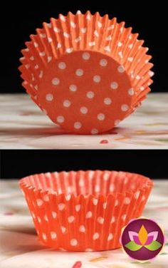 Polka Dots Baking Cups - Orange& White