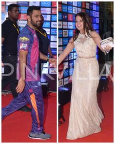 MS Dhoni & Wifey Sakshi Make a Pretty Picture At the IPL Opening Ceremony   PINKVILLA