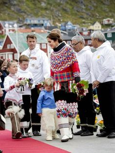 Crown Prince Frederik,Crown Princess Mary and their children visited Qaqortoq,Greenlad.