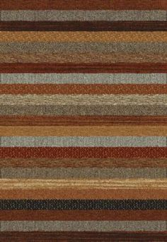 Green & brown living room Mastercraft Rugs Woodstock Brown and Red Stripe Rug - 80cm x 150cm from our Rugs range - Tesco.com