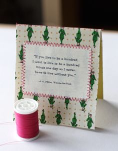 Even if the fabric card is kinda tawdry, showing you how to print on fabric is interesting.