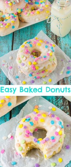 Easy Baked Donuts with Vanilla Glazed Icing | deliciouslysprinkled.com