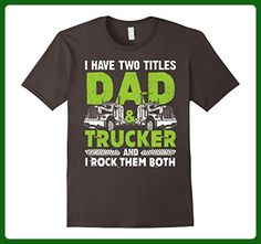 Mens I Have Two Titles Dad And Trucker T-Shirt 3XL Asphalt - Relatives and family shirts (*Amazon Partner-Link)