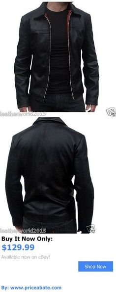 Men Coats And Jackets: Mens Genuine Lambskin Leather Jacket Black Slim Fit Motorcycle Jacket-213 BUY IT NOW ONLY: $129.99 #priceabateMenCoatsAndJackets OR #priceabate