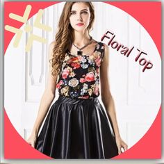 Floral blouse Adorable sleeveless floral blouse Tops Blouses