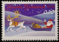 1973 the very first Christmas stamp was published in Finland. First Christmas, All Things Christmas, Christmas Holidays, Postage Stamp Art, Good Old Times, Retro Images, Pretty Cards, Stamp Collecting, Old Toys