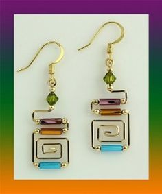 Harpstone – Art Deco Medium – Tap the link to see the newly released collections for amazing beach bikinis! 😀 Harpstone – Art Deco Medium – Tap the link to see the newly released collections for amazing beach bikinis! Wire Wrapped Earrings, Wire Earrings, Earrings Handmade, Handmade Jewelry, Handmade Wire, Glass Earrings, Handmade Accessories, Jewelry Accessories, Drop Earrings