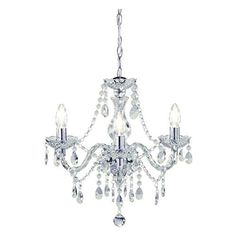 Shop for Wilko Marie Therese 3 Arm Clear Chandelier Ceiling Light at wilko - where we offer a range of home and leisure goods at great prices. Bathroom Chandelier, Ceiling Chandelier, Chandelier Ceiling Lights, Ceiling Pendant, Birdcage Lamp, Ceiling Light Fittings, Elegant Chandeliers, Crystal Chandeliers, Swag Light