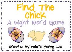 Sight Words Easter Egg Game - Re-pinned by @PediaStaff – Please Visit ht.ly/63sNt for all our pediatric therapy pins