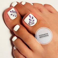 New pedicure nail art designs toenails wedding toes Ideas French Manicure Gel Nails, Pink Manicure, My Nails, Hair And Nails, Pedicure Nail Art, Toe Nail Art, White Pedicure, Pretty Toe Nails, Toenails