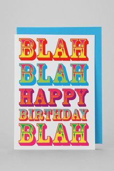Blah Blah Birthday Card