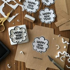handmade stamp, happy new year Make Your Own Stamp, Eraser Stamp, Stencil, Paper Pop, Stamp Carving, Handmade Stamps, Stamp Printing, Kawaii Stationery, Miniature Crafts