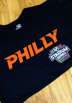 a3233afd4 Philadelphia Flyers Black Stadium Series Alternate Logo Short Sleeve T  Shirt - 17258618