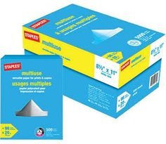 Staples Multiuse Paper 20 lb. 8-1/2in. x 11in. Case $49.96 $60.96 Save 18% http://www.lavahotdeals.com/ca/cheap/staples-multiuse-paper-20-lb-8-1-2in/126245