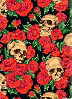 AHRIDUIK: Nicole's Prints - Resting in Roses - Black
