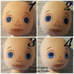 Sewing a Fabric Doll on Your Own – a free tutorial on the topic: Dolls ✓DIY ✓Steps-By-Step ✓With photos Fabric Doll Pattern, Doll Patterns, Henna Patterns, Doll Head, Doll Face, Doll Crafts, Diy Doll, Human Doll, Doll Painting
