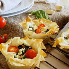 Portionspajer med spenat och fetaost - Mitt kök