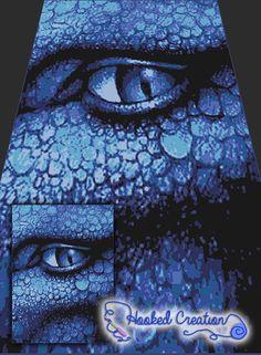 Dragons Eye SC Twin Sized Blanket Crochet Pattern - PDF Download
