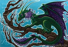 Purple-Frilled Dragon by krumm33.deviantart.com on @deviantART