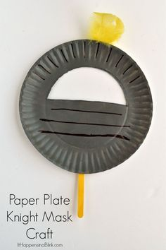 Find out about fun crafts for kids Vbs Crafts, Camping Crafts, Paper Plate Masks, Paper Plates, Fairy Tale Crafts, Castle Crafts, Princess Crafts, Medieval Crafts, Paper Plate Crafts For Kids