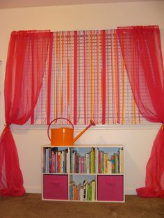 Beautiful Ribbon Curtain   CUTE!! This However Would Prob Drive My Cat CRAZY!
