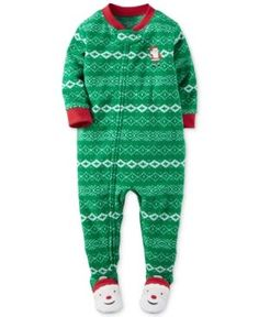 Carter's 1-Pc. Touchdown Champ Footed Pajamas, Toddler Boys (2T-4T ...