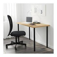 "LINNMON / ADILS Table, birch effect, black - 47 1/4x23 5/8 "" - IKEA"