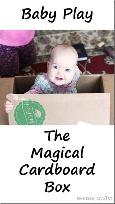 El mejor juguete....la caja de carton. Baby toys are fantastic, but the cardboard box is truly magical :)