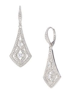 Round Blue Aquamarine Crystal Fashion fête de mariage ton argent CALIN Boucles d/'oreilles