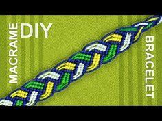 ▶ Braided Macrame Bracelet - Friendship bracelet - nice on both sides - YouTube